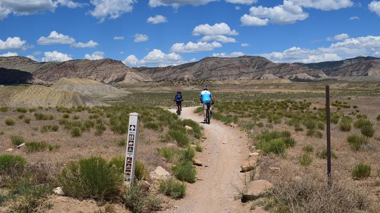 Riders exploring the trails in the North Fruita Desert.