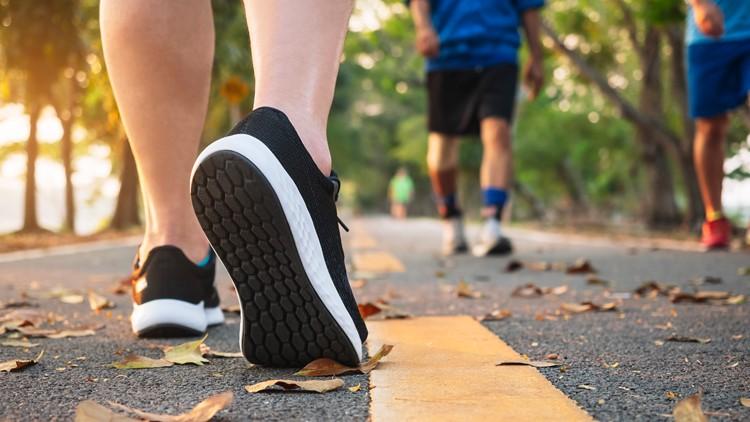 Jogging exercise Healthy lifestyle running runners runner feet generic marathon walk
