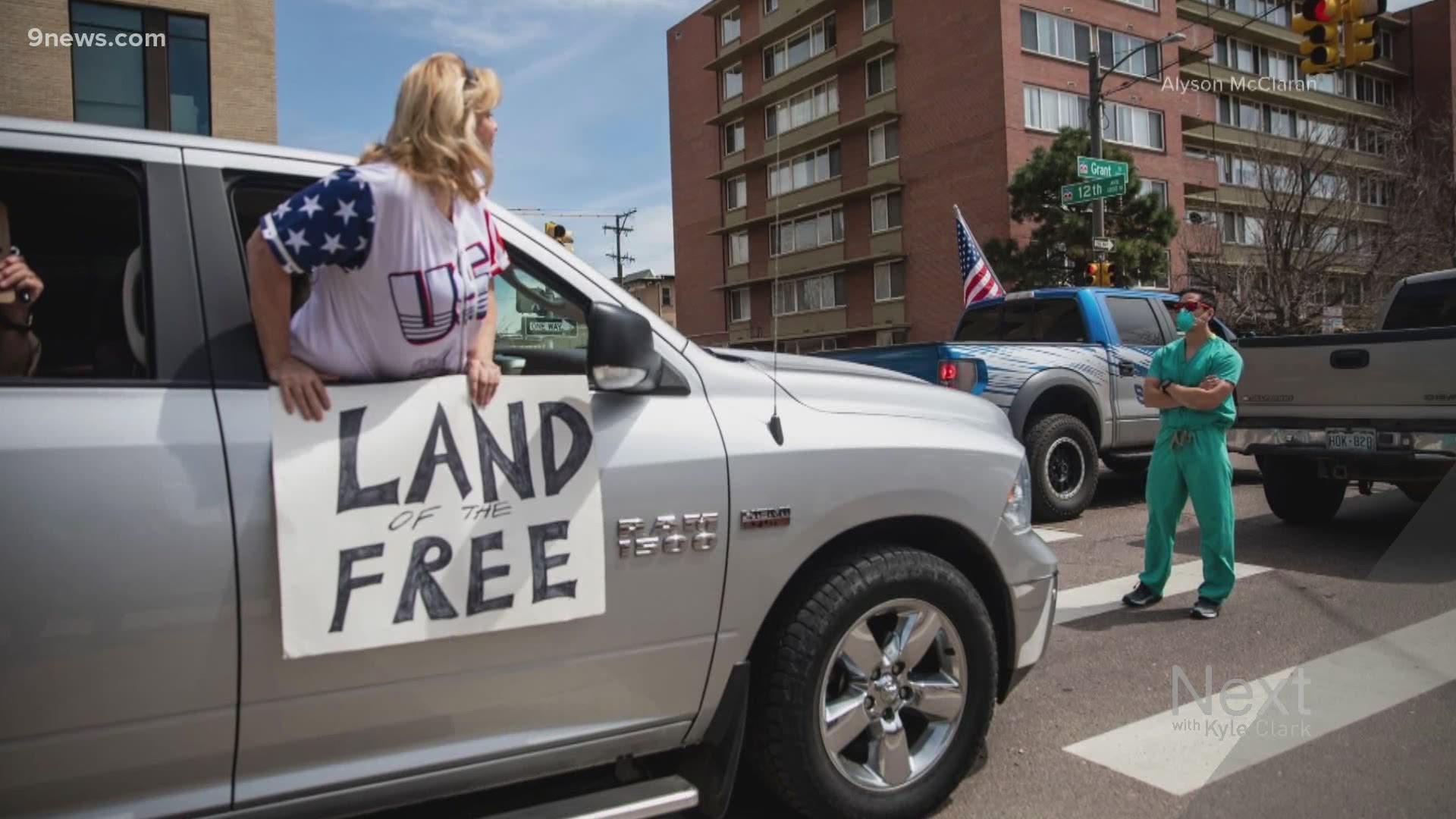 Photos Of Denver Nurses Blocking Traffic In Denver Go Viral 9news Com