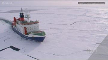 Climate scientists trapped in ice for research give update from arctic darkness
