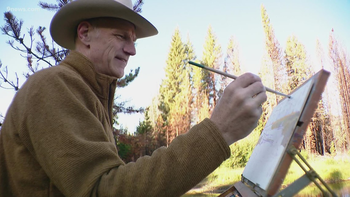 He has painted in same spot in RMNP for 20 years, but this year is different