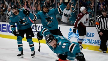 Hertl scores twice to lead Sharks past Avalanche 2-1 in Game 5