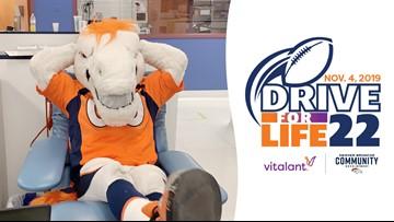 Vitalant, Broncos partner for Drive for Life 22 this November