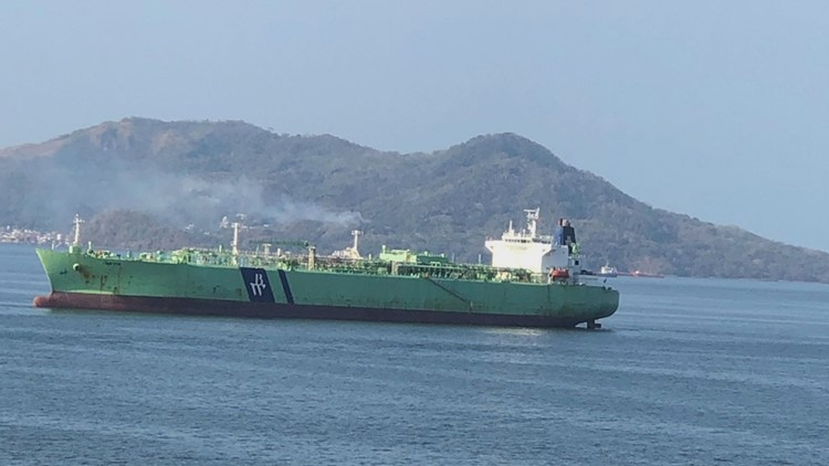 ship in panama bay