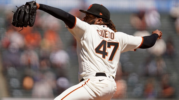 Johnny Cueto pitches Giants past Rockies 3-1 in home opener