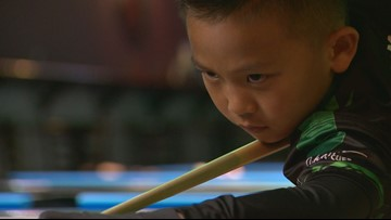 Nine-year-old turning heads at Englewood pool hall