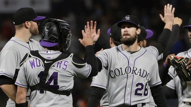 David Dahl's two-run homer carries Rockies past Giants 2-0