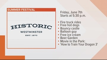 Historic Westminster Summer Festival is set for Friday & Saturday