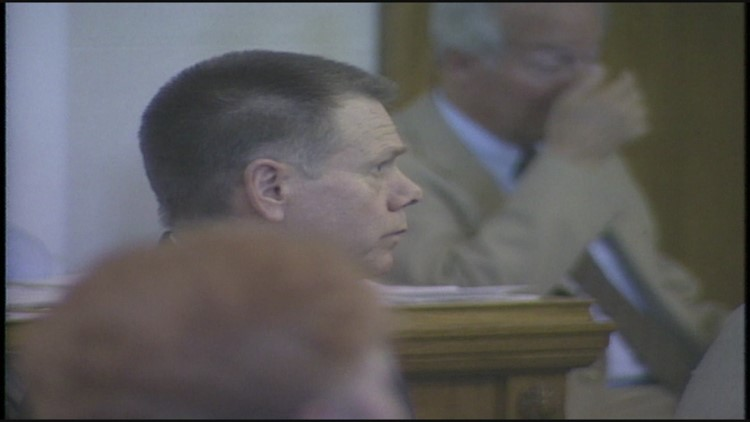 James King faces a jury in the United Bank murders case