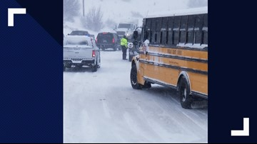 Douglas County school buses help rescue more than 300 stranded motorists