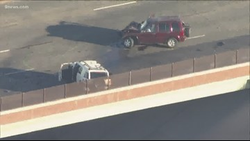 Wrong-way crash closes I-225 for about 4 hours Tuesday afternoon