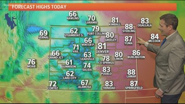 Windy with extreme fire danger over much of the state