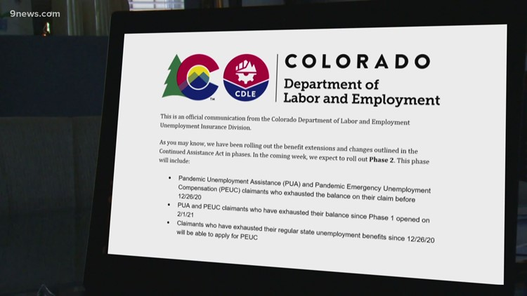 Colorado labor officials: $254 million in unemployment benefits paid since Phase 2 rollout