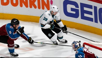 Couture scores 3 goals, Sharks beat Avs 4-2 in Game 3