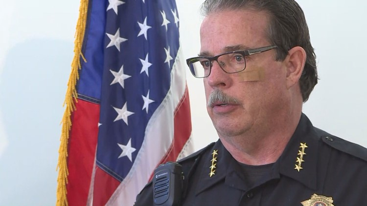 Douglas County Sheriff Tony Spurlock holds press conference after suspect shoots, kills deputy on Sunday morning