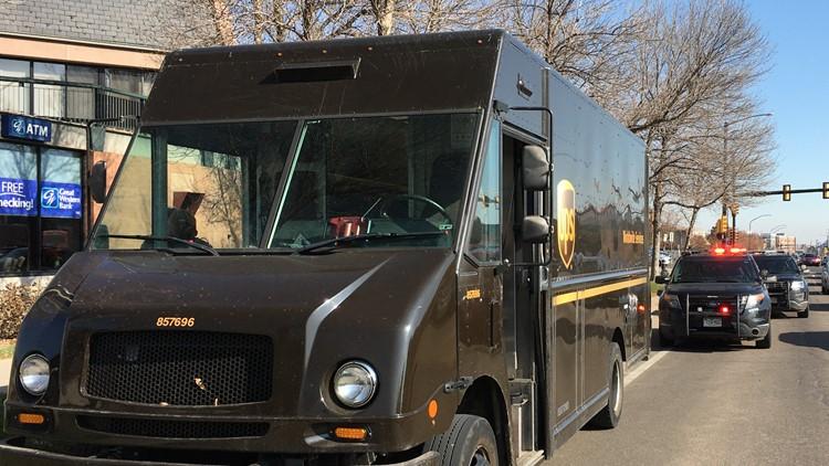 Stolen UPS truck