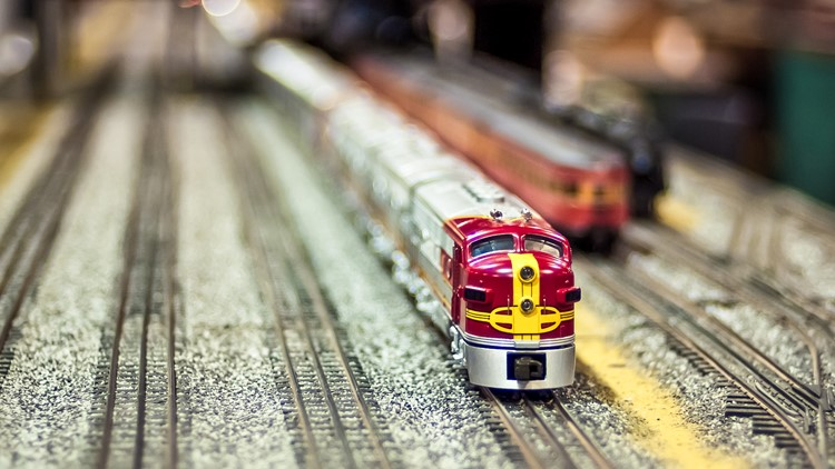 Model railway train set model railroad railroading train show