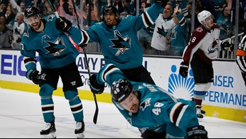 Sharks take 3-2 lead into game 6 against the Avalanche
