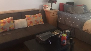 Practicing social distancing inside of a small studio apartment in Denver