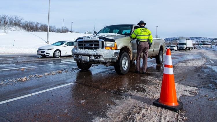 Interstate 25 closure at Plum Creek
