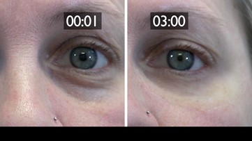 Reduce eye bags, wrinkles and dark circles from view