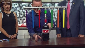 Spangler Science: A new take on the diet coke and mentos experiment