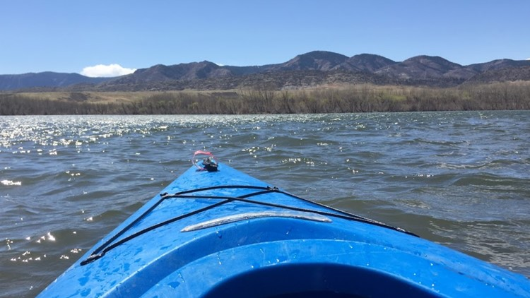 Kayaking at Chatfield State Park