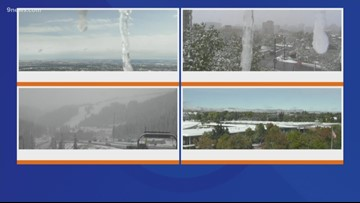 Nearly 100 crashes reported in Denver so far as heavy snow blankets Colorado
