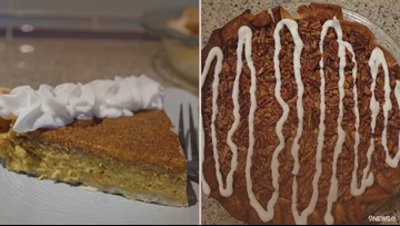 How to make Pumpkin Chiffon and Cinnamon Roll Pecan pies for Thanksgiving