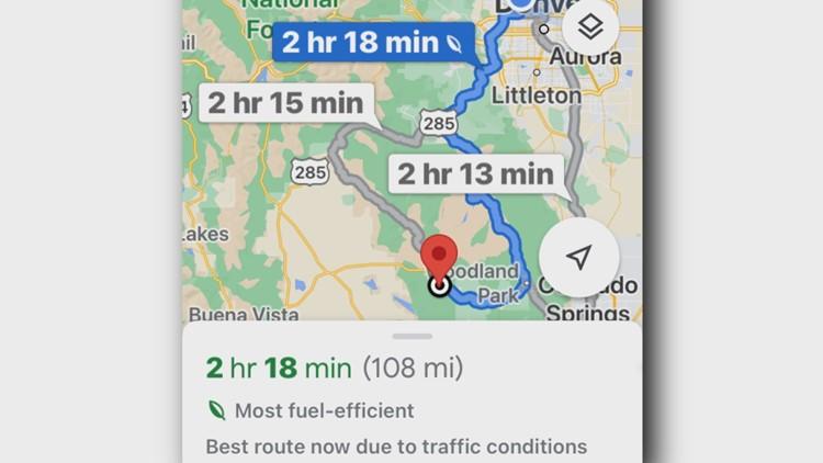 Google Maps focuses on fuel efficiency