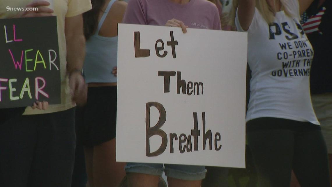 Parents protest Douglas County schools mask mandate
