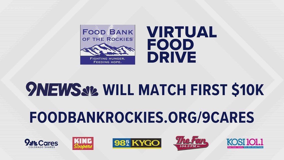 9NEWS, Bonneville radio stations and King Soopers team up for virtual food drive