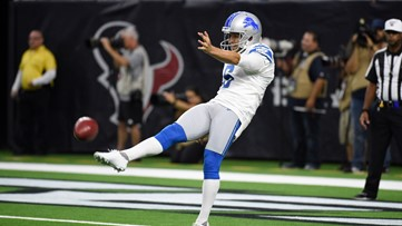Broncos reach 3-year agreement with former Lions punter Sam Martin