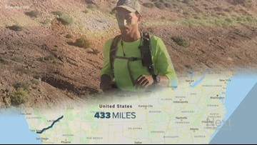 Man runs cross-country to raise money for kids in foster care