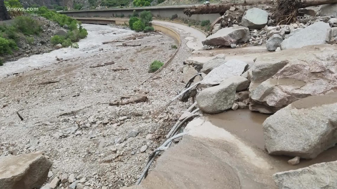 Extended closure of I-70 through Glenwood Canyon following mudslides