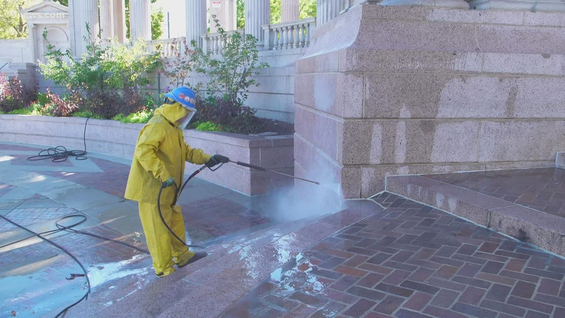 A look at renovations and repairs underway at Civic Center Park