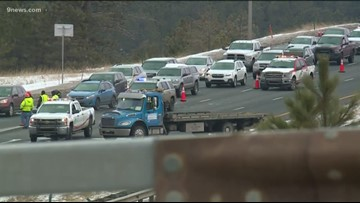 WB I-70 remains closed because of sliding rock; EB lanes reopen