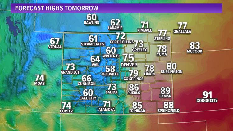 Forecast Highs Saturday, September 21