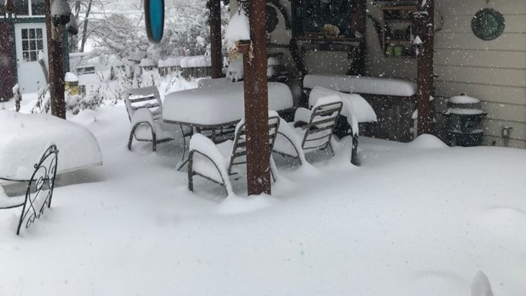Photos Your Snow Covered Patio Furniture After The