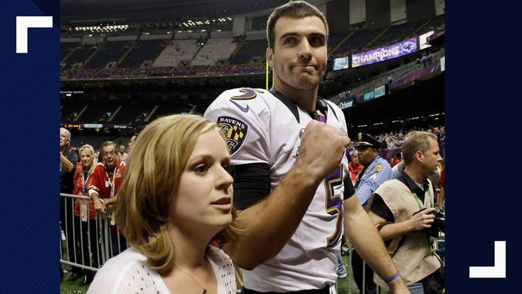 Super Bowl Football Joe Flacco wife Dana