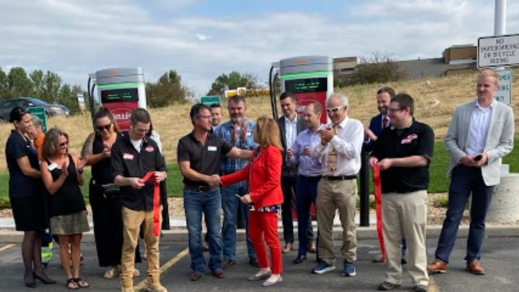 Wellington home to Colorado's newest electric vehicle charging station
