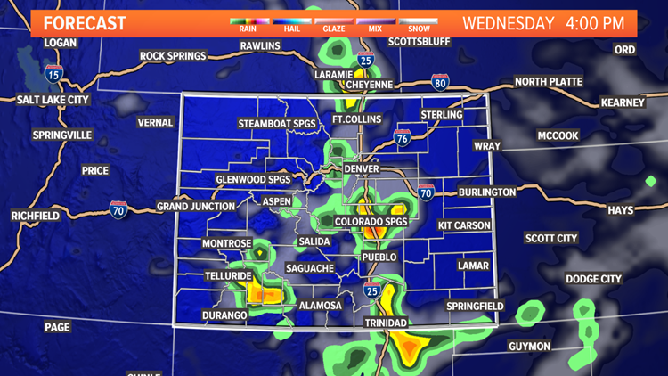 Wednesday thunderstorm forecast 4pm