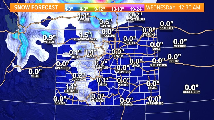 Cooler, windy weather moves in Tuesday, with snow to the west