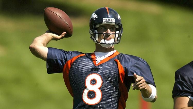 Denver Broncos quarterback Matt Mauck