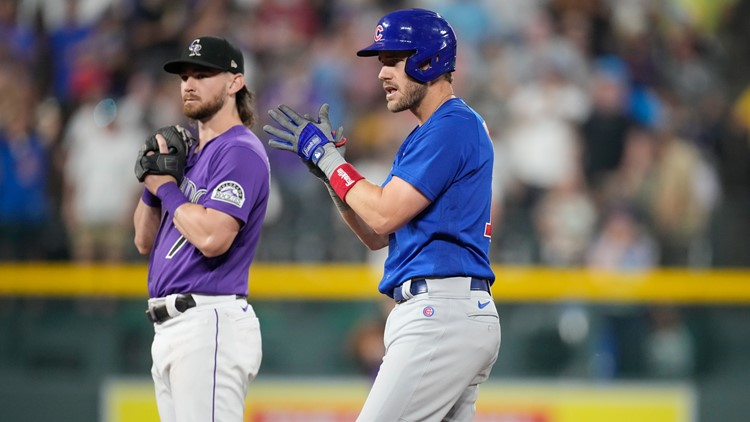 Wisdom's 3-run double lifts Cubs over Rockies, 3-2