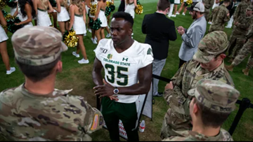 Oldest player in college football is a CSU running back still on active duty in U.S. Army