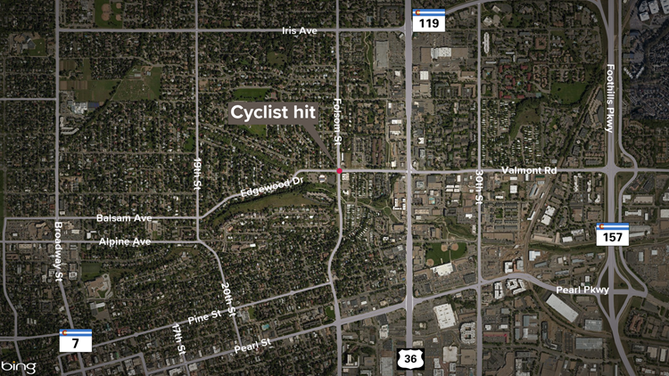Boulder cyclist hit