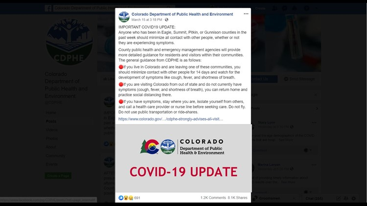 CDPHE Eagle, Summit, Pitkin and Gunnison COVID-19 guidance