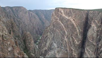 A windy day at Black Canyon's Painted Wall
