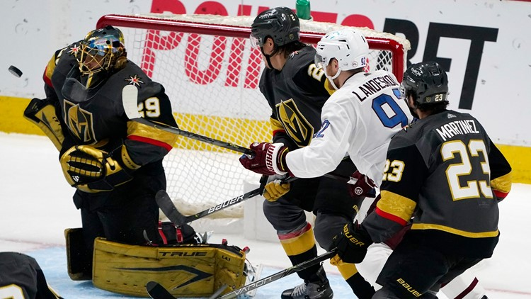 Tuch, Fleury help Knights cruise to 3-0 win over Avalanche